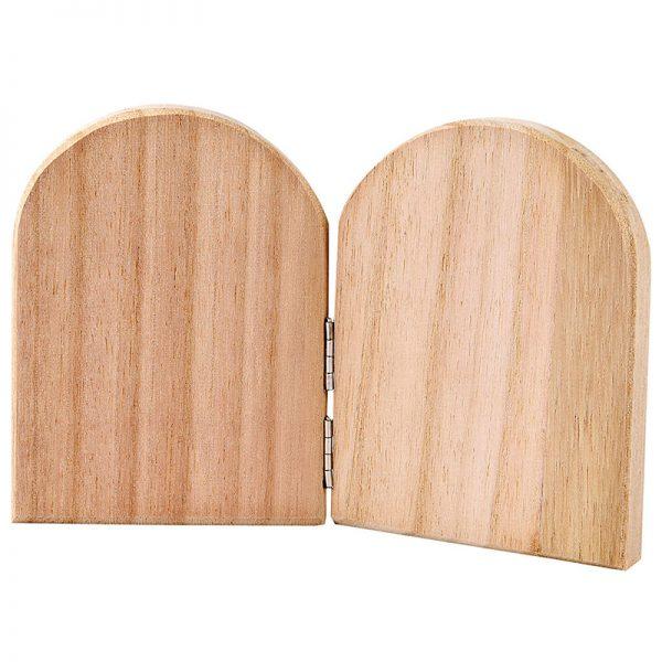 houten 2 luik leuk ter decoratie