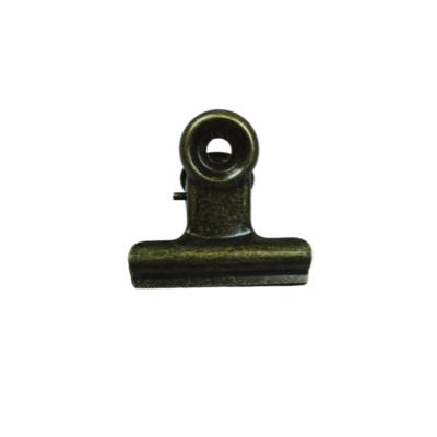 Bulldog clip brons om iets vast te knijpen
