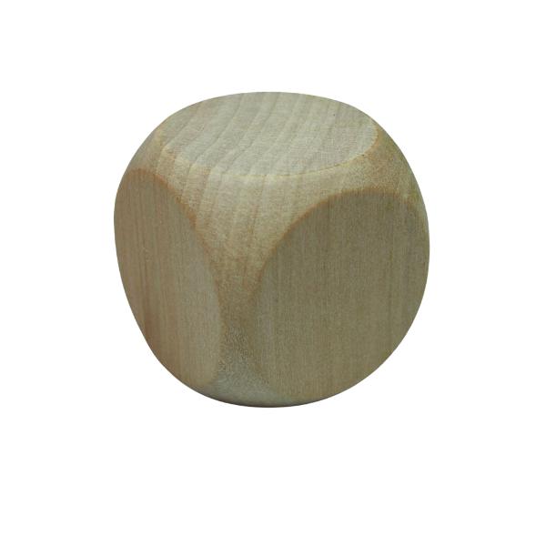 dobbelsteen hout voor het graveren met brandpen