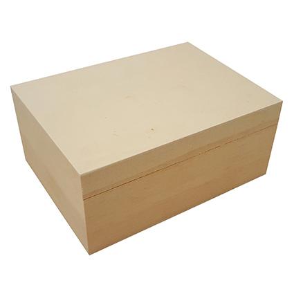 houten doos met los deksel om te graveren met een brandpen