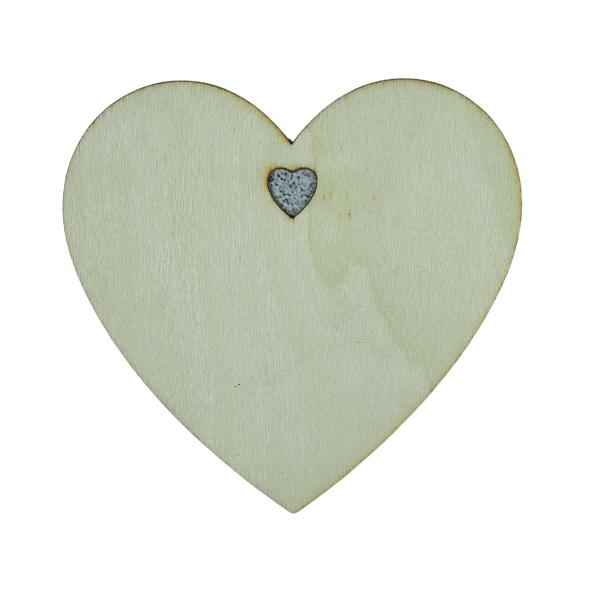 hart houten om te graveren met brandpen