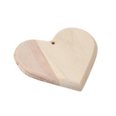 Hart hanger- hout om te kunnen graveren met brandpen