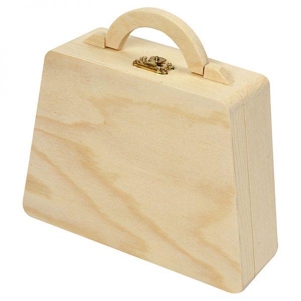 grenen houten koffertje voor houtbranden of graveren met brandpen