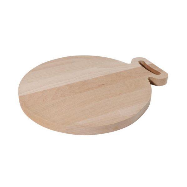 Ronde snijplank van hout voor houtbranden of graveren met brandpen