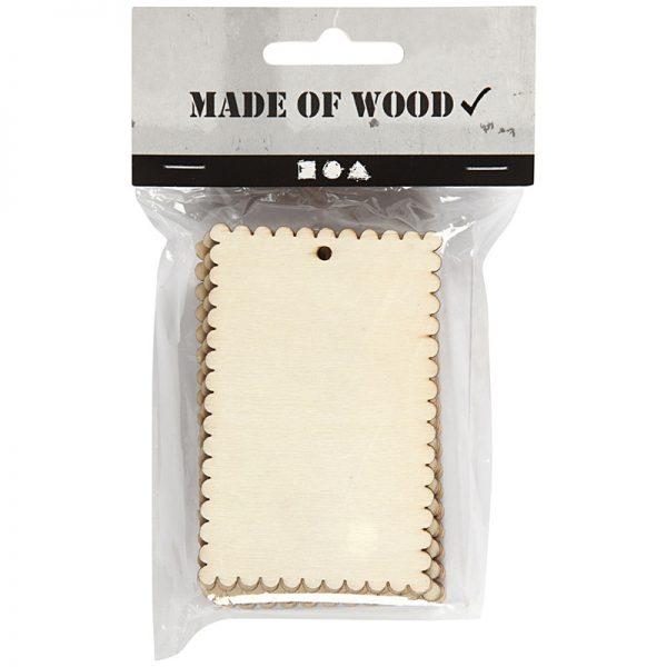 Houten labels voor houtbranden of graveren met brandpen
