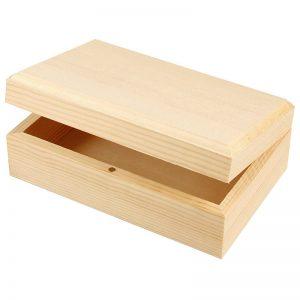 Kistje of sieradendoosje van hout voor houtbranden of graveren met brandpen