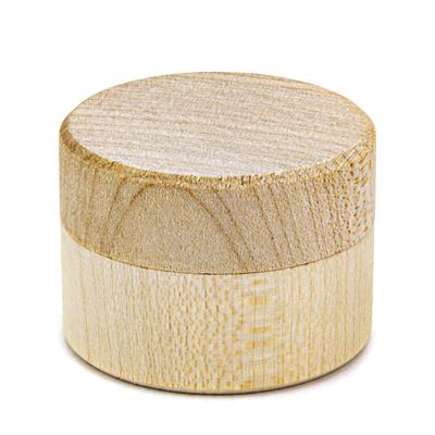 rond houten juwelendoosje voor houtbranden of graveren met brandpen