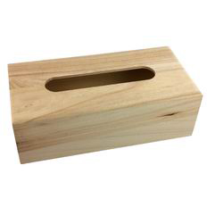 Houten tissuedoos voor houtbranden of graveren met brandpen