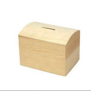 houten spaarpot kistje voor houtbranden of graveren met brandpen