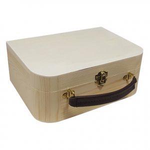 houten koffertje met handvat voor houtbranden of graveren met brandpen