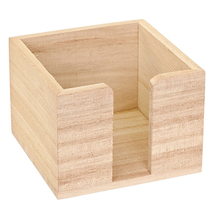 houten memohouder voor houtbranden of graveren met brandpen