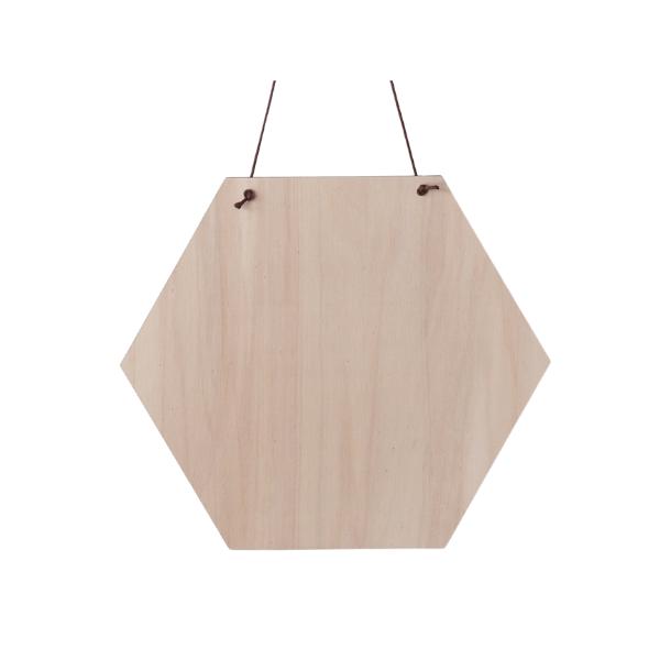 Spreukbord hexagon voor houtbranden of graveren met brandpen