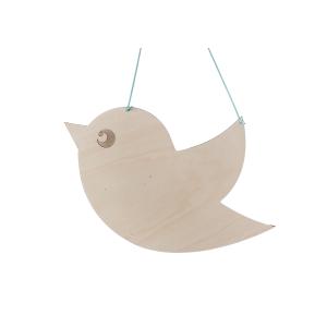 Spreukbord vogel voor houtbranden of graveren met brandpen