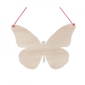 Spreukbord vlinder voor houtbranden of graveren met brandpen