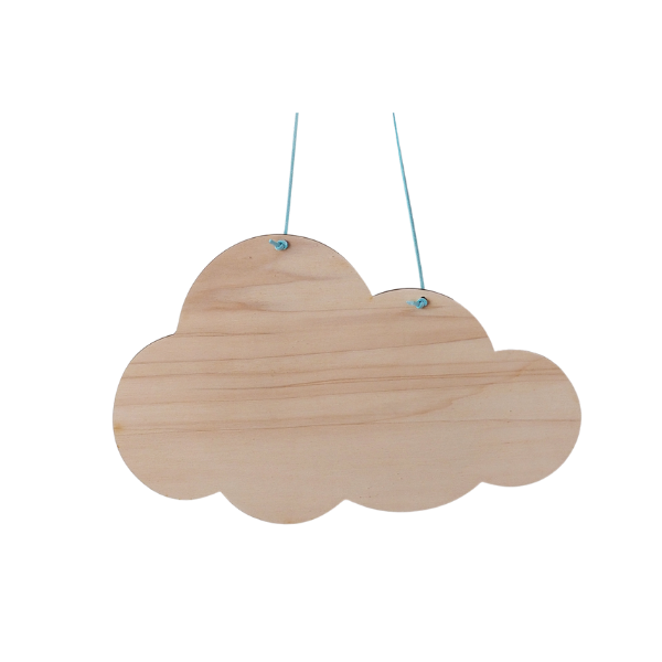 Spreukbord wolk voor houtbranden of graveren met brandpen