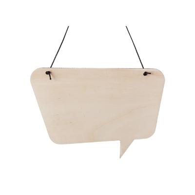 Spreukbord tekstballon voor houtbranden of graveren met brandpen