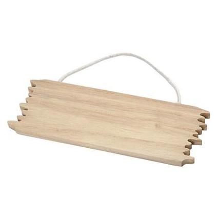 houten deurschild met koord voor houtbranden of graveren met brandpen